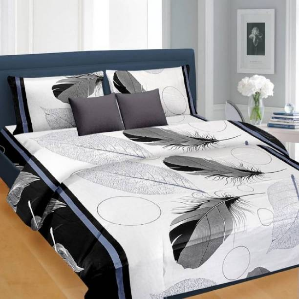 hmm 160 TC Polycotton Double Printed Bedsheet