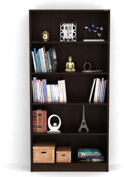 BLUEWUD Alex Engineered Wood Open Book Shelf