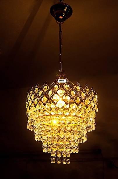 LPINE Crystal Chandelier Ceiling Lamp (GOLDEN) Chandelier Ceiling Lamp