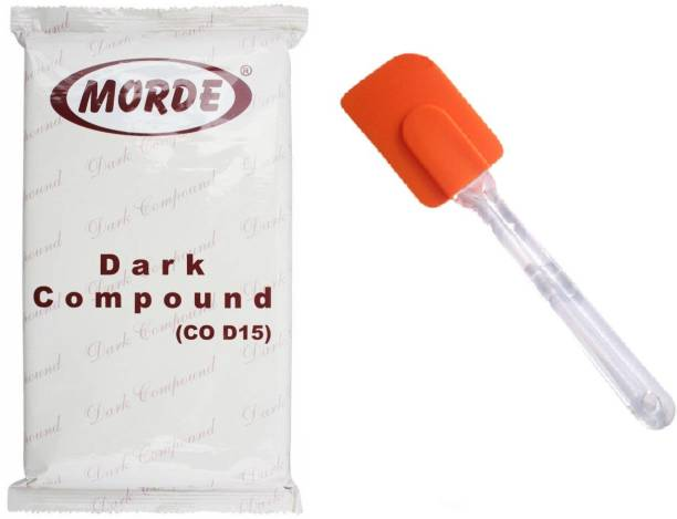 Morde Dark Compound Slab- 400 g and Silicone Spatula with Acrylic Handle 1pcs Bars