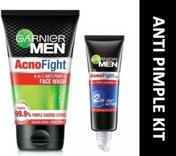 GARNIER MEN Acno Fight Anti-Pimple Kit (2 Items in the set)