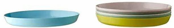 VARNA by IKEA Pack of 6 Plastic Ikea KALAS Plate , Assorted Colours(Pack of 6) Dinner Set