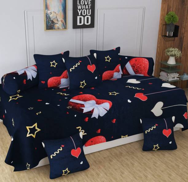 The choice home Polycotton Abstract Diwan Set