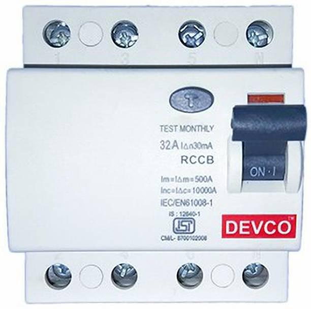 DEVCO 4-Pole-40-Amp (30mA)-RCCB RCC404003 MCB
