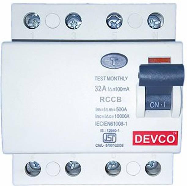 DEVCO 4-Pole 32-Amp (100mA) - RCCB RCC404010 MCB