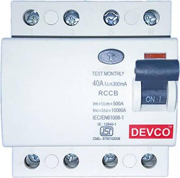 DEVCO 4-Pole 40-Amp (300mA) - RCCB RCC404030 MCB