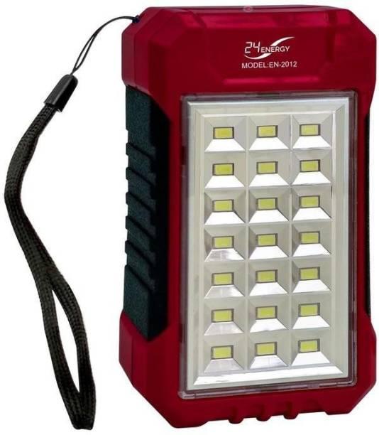 24 ENERGY Power Bank Cum 21 Hi-Bright LED Rechargeable Solar Light Lantern Emergency Light