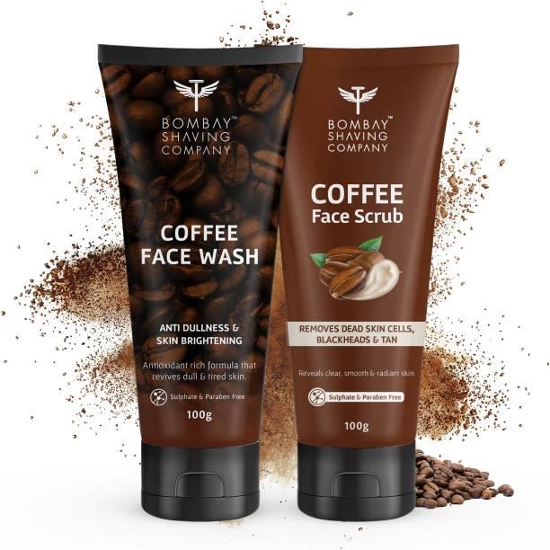 BOMBAY SHAVING COMPANY Exfoliating Coffee Face Scrub &  Face Wash