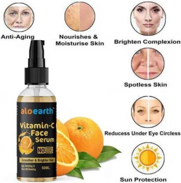 Aloearth Vitamin C Fairness Serum for a Brighter and Healthier Skin serum 50ml