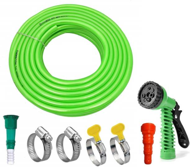live with alive 10m Green Hose With 7 Mode Spray Garden Hose 10meter Hose Pipe