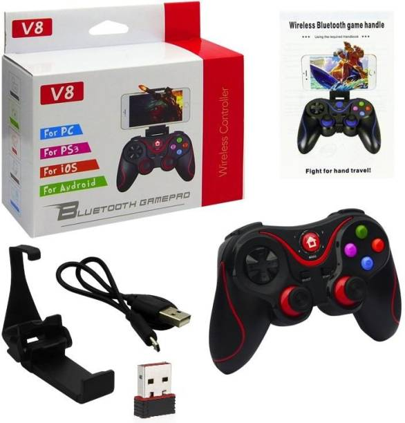 DXP V8 Bluetooth Wireless Gaming Controller with Receiver, Joystick BT3.0 For iOS/Android/Smart T.V/PC Gamepad  Joystick