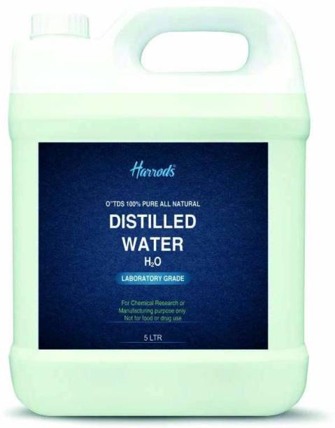 HARRODS Distilled water - Demineralized Purification Softener for Washing & Cleaning, Automotive Battery Cooling, Laboratory Equipment, Watering Plants, Aqua 5L none