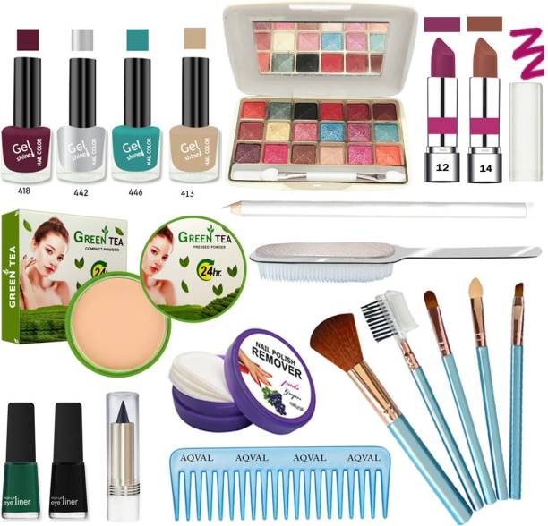 AQVAL Glowing Makeup Kit Of 20 Items30802021A52