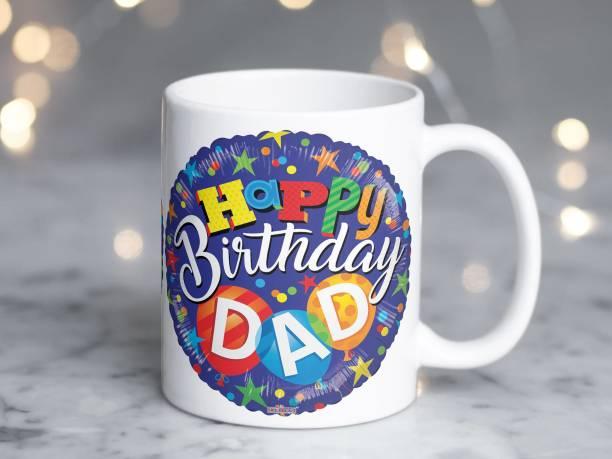Vrantikar Happy Birthday Dad Printed Ceramic Coffee Mug