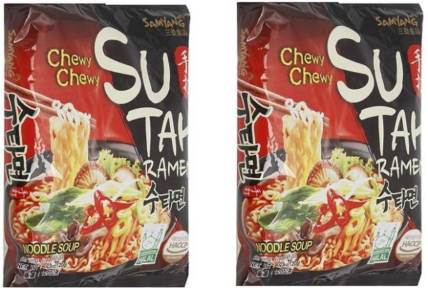 Samyang Sutah Ramen noodles 140X2 (Pack Of 2) (Imported ) Instant Noodles Vegetarian