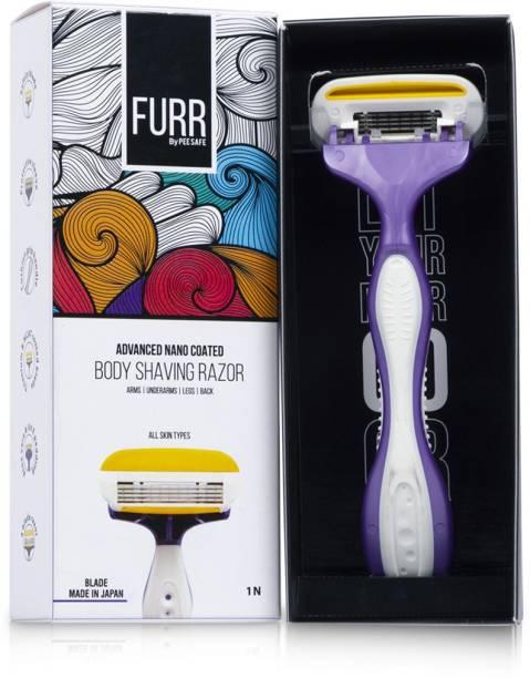 Pee Safe Body Shaving Razor for Women (Pack of 1)