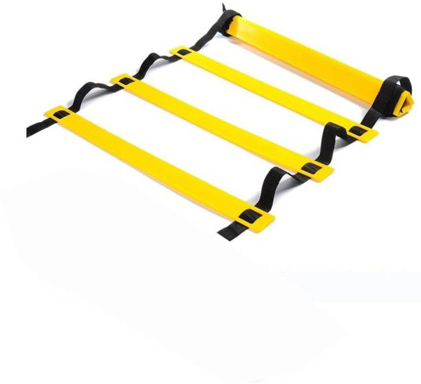 corso SPORTS & FITNESS 4Meter / 9Rungs Speed / Agility Ladder (With Carry Bag) for Fitness, Sports, Training, Quickness Training Faster Footwork & better Movement Skills Speed Ladder (yellow) Speed Ladder