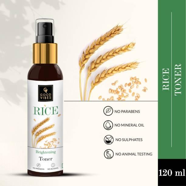 GOOD VIBES Rice Brightening Toner for Women Women