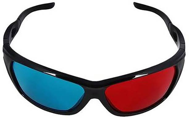 Right Gear Anaglyph 3D PlasticBlack Video Glasses