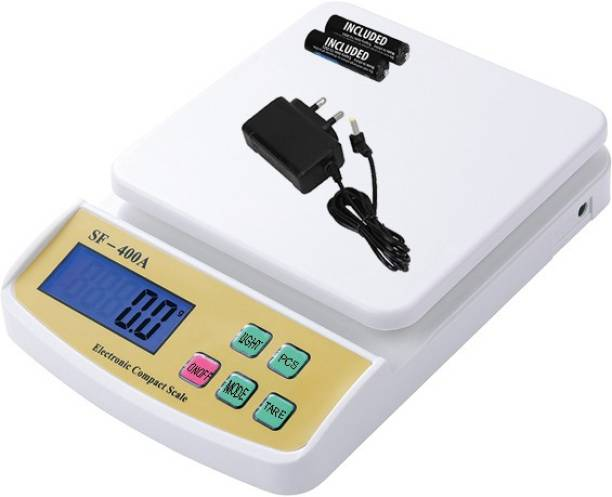 ZYNATY Electronic Digital 1Gram-10 Kg Weight Scale Lcd Kitchen Weight Scale Machine Measure for measuring fruits,shop,Food,Vegetable,vajan,offer,kata,weight machine Weighing Scale, Electronic Digital Weighing Scale (White) Weighing Scale