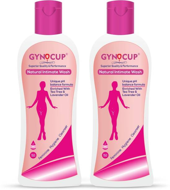 Gynocup Intimate Wash for Women, Enriched with Tea Tree Oil & Aloe Vera Extract, pH Balanced , Prevents Odour & Infections, Safe for Skin - 100ml(Pack of 2) Intimate Wash