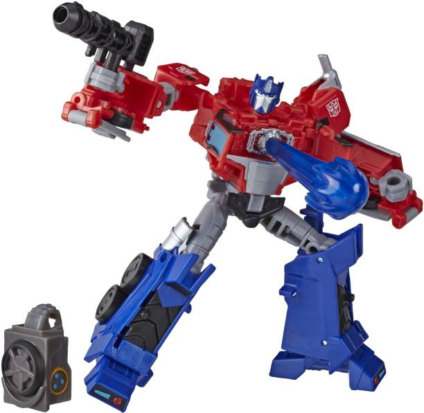 TRANSFORMERS Toys Cyberverse Deluxe Class Optimus Prime Action Figure, Built a Figure, For Kids Ages 6 & Up