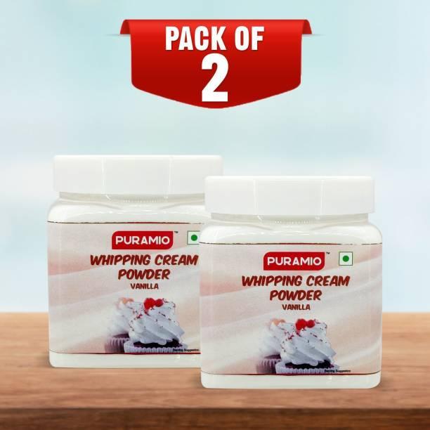 PURAMIO Whipping Cream Powder Vanilla- (Pack of 2), Icing