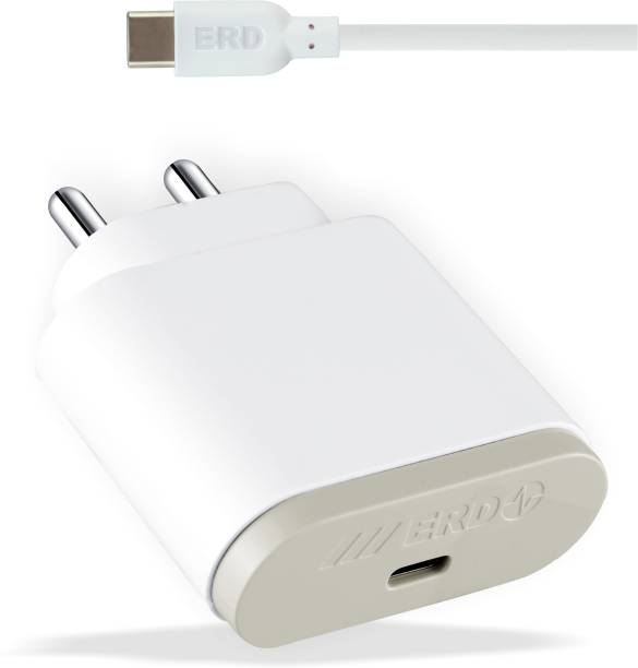 ERD TC-49 USB Type-C to Type-C Mobile Charger 18 W 3 A Mobile Charger with Detachable Cable