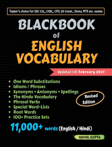 Blackbook of English Vocabulary