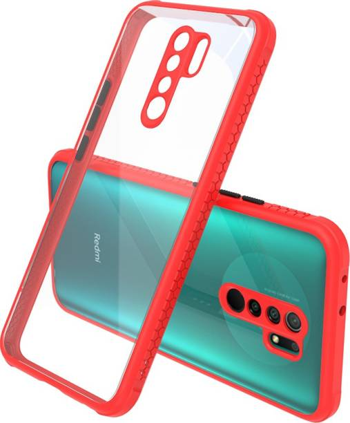 MECase Back Cover for Redmi 9 Prime Full Camera Protection Transparent Smoke Case