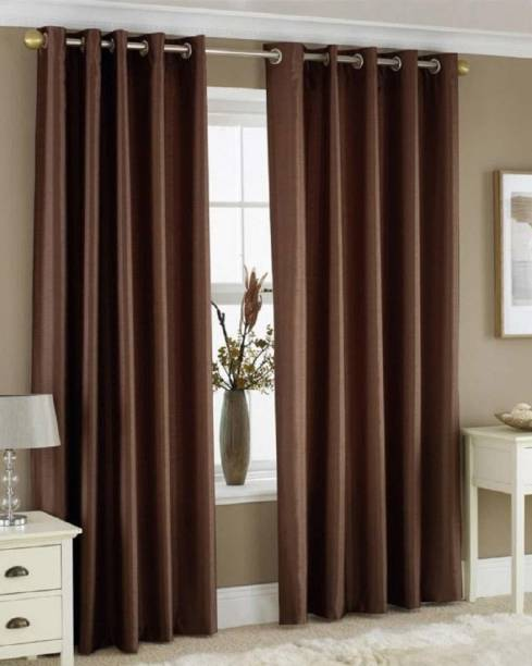 V.S FURNISHING 212 cm (7 ft) Polyester Door Curtain (Pack Of 2)