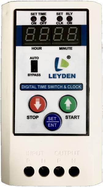 Leyden TM-CLK 230V, 30A, 24 Hour Single Phase High Quality Digital Programmable Timer 10 Programs - Digital Programmable Electronic Timer Switch Programmable Electronic Timer Switch Programmable Electronic Timer Switch