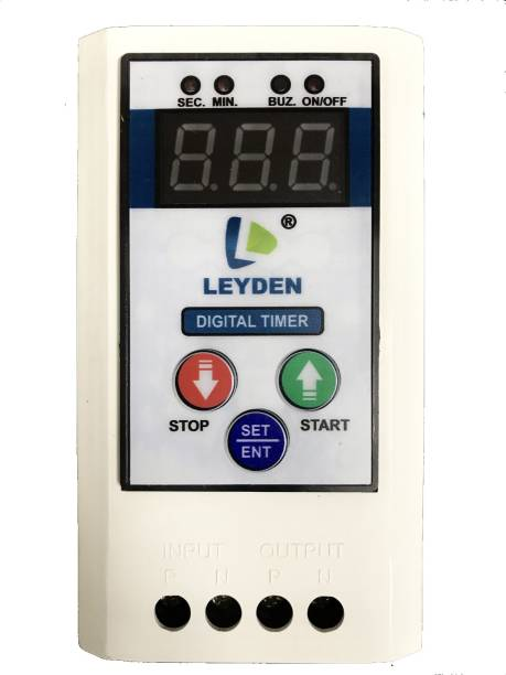 Leyden TM-CYC 230V, 30A Single Phase Digital Cyclic & Auto Stop Up 1 To 999 Minute Programmable Electronic Timer Switch (White) Programmable Electronic Timer Switch