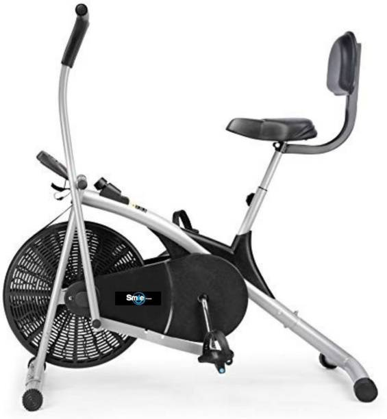 Smile Fitness Air Bike Fitness Exercise Cycle Moving Handles Upright Moving Exercise Bike Upright Stationary Exercise Bike