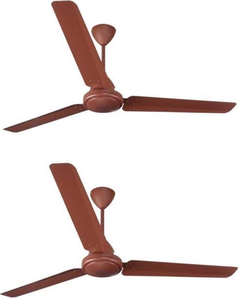 almonard MARK-2 1200mm 3 blade Ceiling Fan (Brown, Pack Of 2) 1200 mm 3 Blade Ceiling Fan