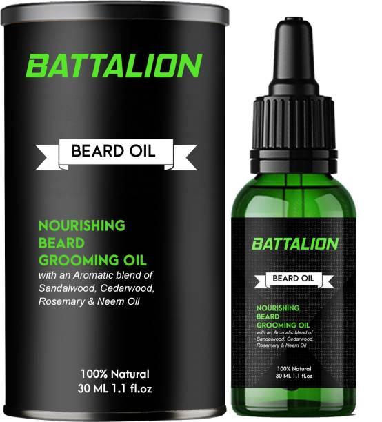 Battalion Beard Growth Oil for strong and healthy beard growth Hair Oil