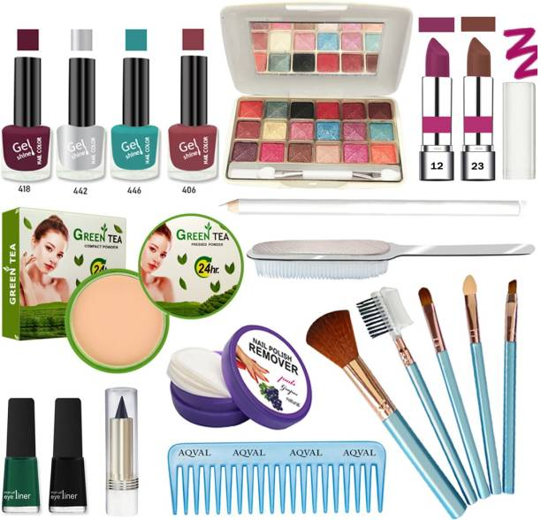 AQVAL Glowing Makeup Kit Of 20 Items30802021A45