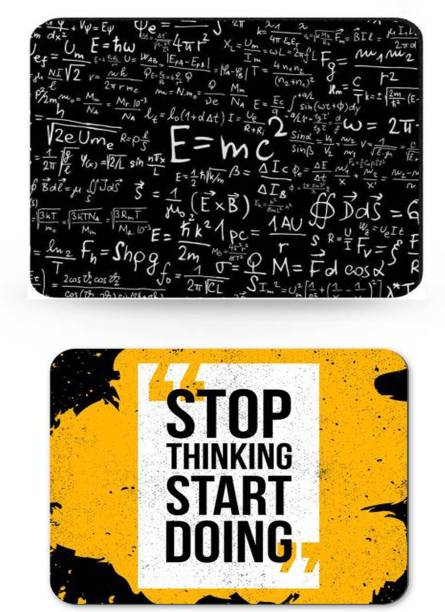 SMULY MOUSEPAD COMBO PACK OF 2 (stop thinking and E=MC Mousepad