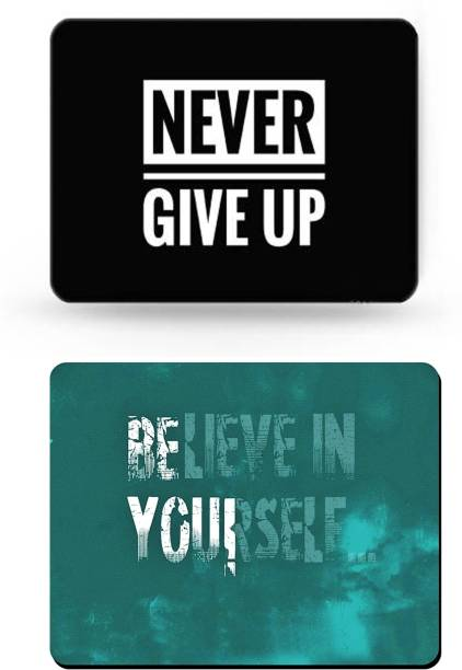 SMULY MOUSEPAD COMBO PACK OF 2 ( NEVER GIVE UP AND BELIVE IN YOURSELF Mousepad