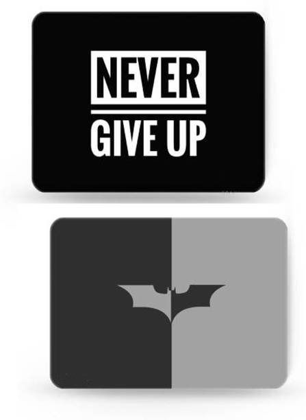 SMULY MOUSEPAD COMBO PACK OF 2 ( STOP THINKING AND GREY & BLACK BAT Mousepad
