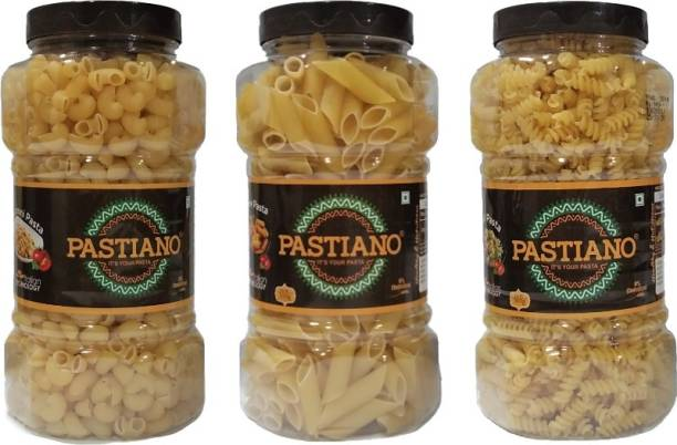 PASTIANO Macaroni, Penne & Fusilli Elbow Macaroni, Macaroni, Penne, Spirali, Fusilli Pasta