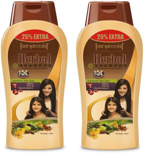 Aryanveda Herbals Unisex Hair Loss Control Neem And Tulsi Shampoo,250g Pack of 2