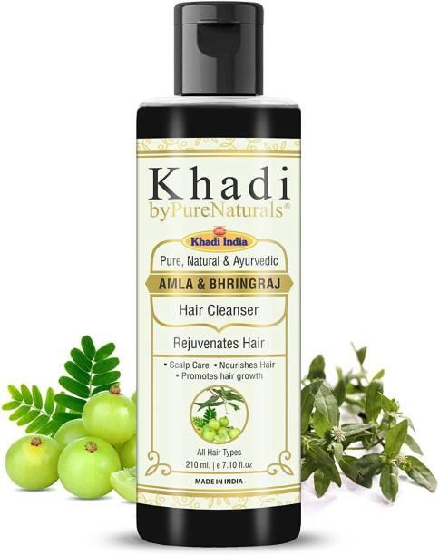byPurenaturals Herbal and Natural Amla Bhringraj Hair Shampoo for Men Women 210ml