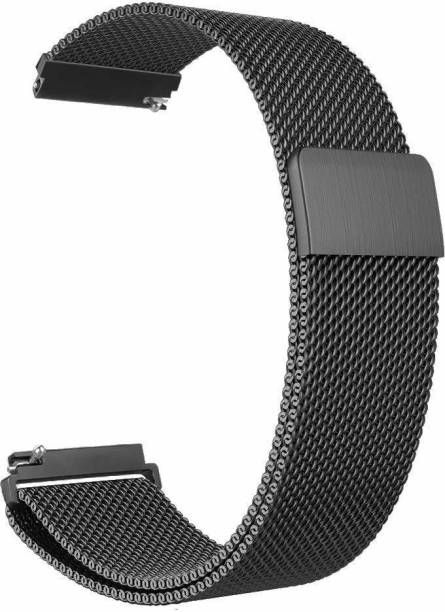 PORTLIX Watch Strap Metal / Chain Belt 22mm Compatible with Watch S / watch S Pro / Ns Color Fit Pro 3 / Ns Fit Eolv / Ama Ft GR 2 (46 mm ) / Huai GT 2 / Hon Magic Watch / Fosl Gen 5 Carlyle Smartwatch Sports Band | Smartwatches with 22 mm Lugs , Smart Watch Strap ( PLEASE NOTE- THIS STRAP IS NOT COMPATIBLE / FIT FOR NOISE COLORFIT PRO 2 & BOAT STORM WATCH & APPLE WATCH ) Smart Watch Strap