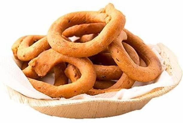 Delight Foods Kodubale - Karnataka Classic Snacks  Fried in Cold Pressed Sunflower Oil   No Preservatives   Namkeen   Savory