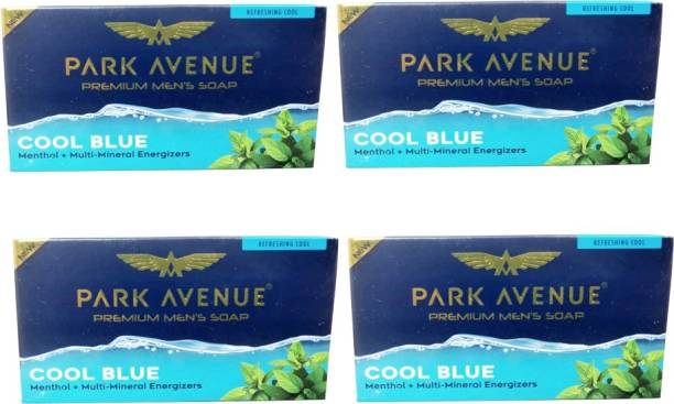 PARK AVENUE Cool Blue Pack Of4 Menthol +Multi -Mineral Soap