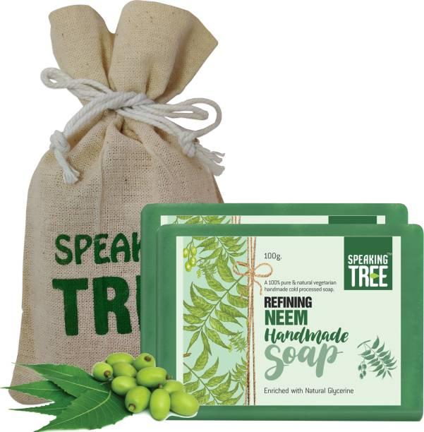 Speaking tree Refining Neem Handmade Soap - 100 gms (Pack of 2)
