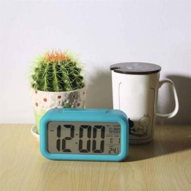 Ruhi Pro Digital Light Blue Clock