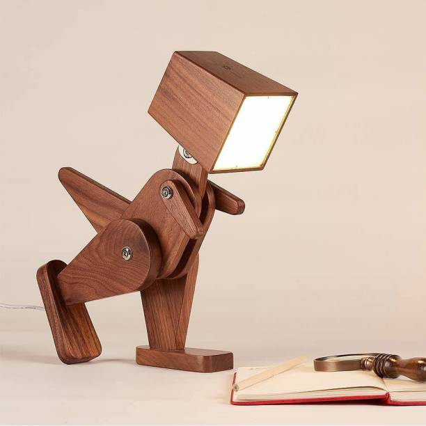 Worthy Shoppee Wooden Dinosaur lamp , for Computer and nightstand, for Bedroom and Office, Ideal for Children Study Lamp Study Lamp