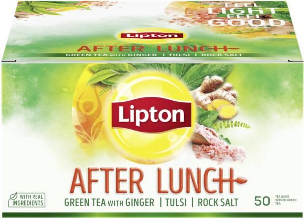 Lipton After Lunch With Green Tea, Ginger, Tulsi, Rock Salt Ginger Green Tea Bags Box